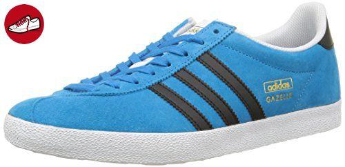 adidas  Gazelle Og,  Herren Sneaker , Blau - Blau - Bleu (Solar Blue/Core Black/White) - Größe: 45 1/3 - Adidas sneaker (*Partner-Link)