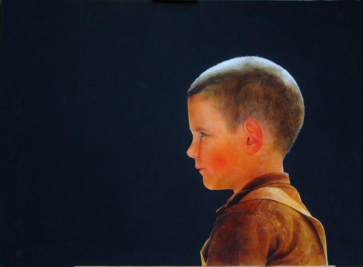 Realistic watercolor. By Ottorino De Lucchi.