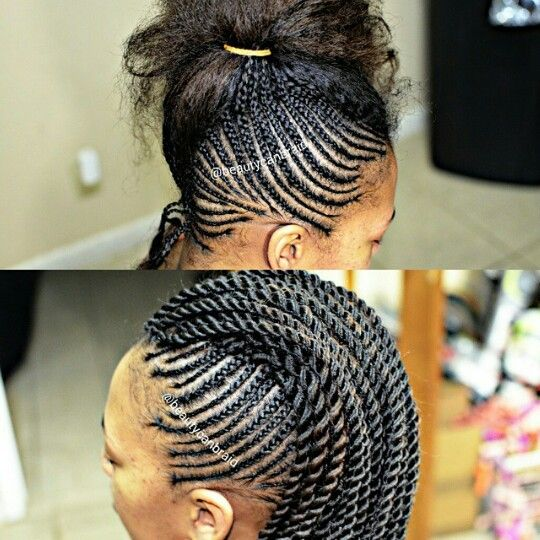 Braided Mohawk! With rope twist.