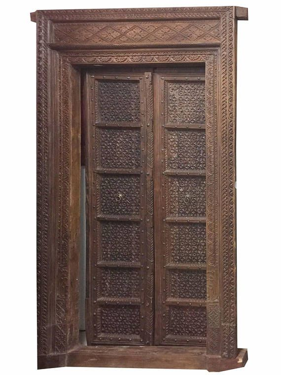 Antique Indian Haveli Floral Hand Carved Doors Teak Wood - 246 Best Antique Doors Images On Pinterest Antique Doors, Old