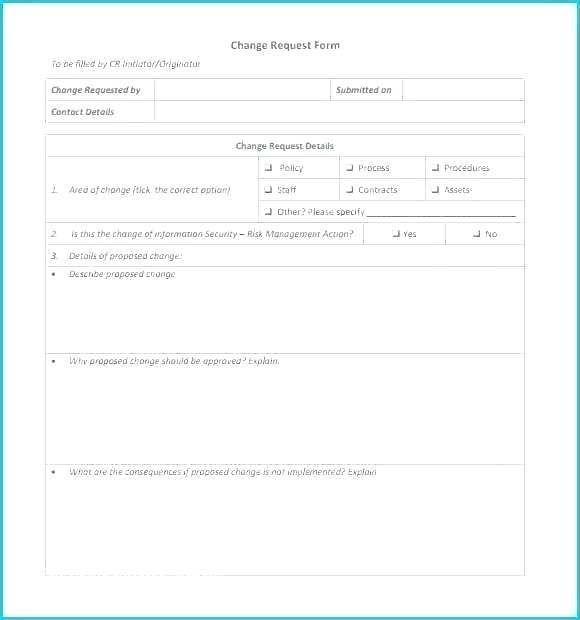 30 Itil Change Management Template Change Request Template System