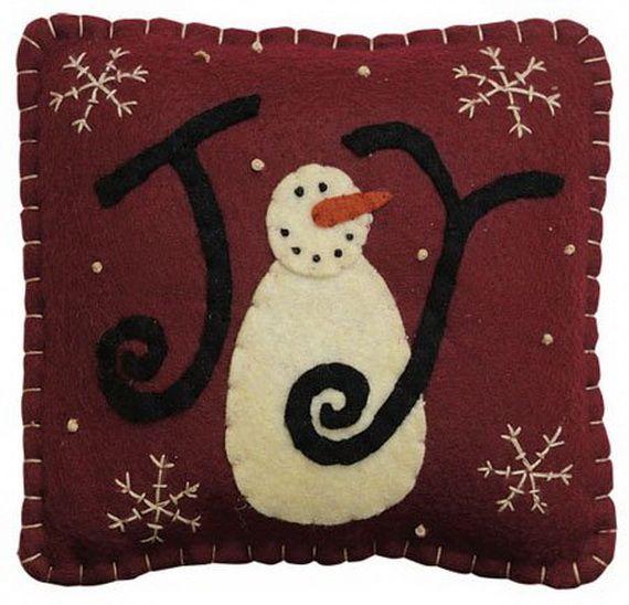 Gorgeous Handmade Christmas Pillow Inspirations_01