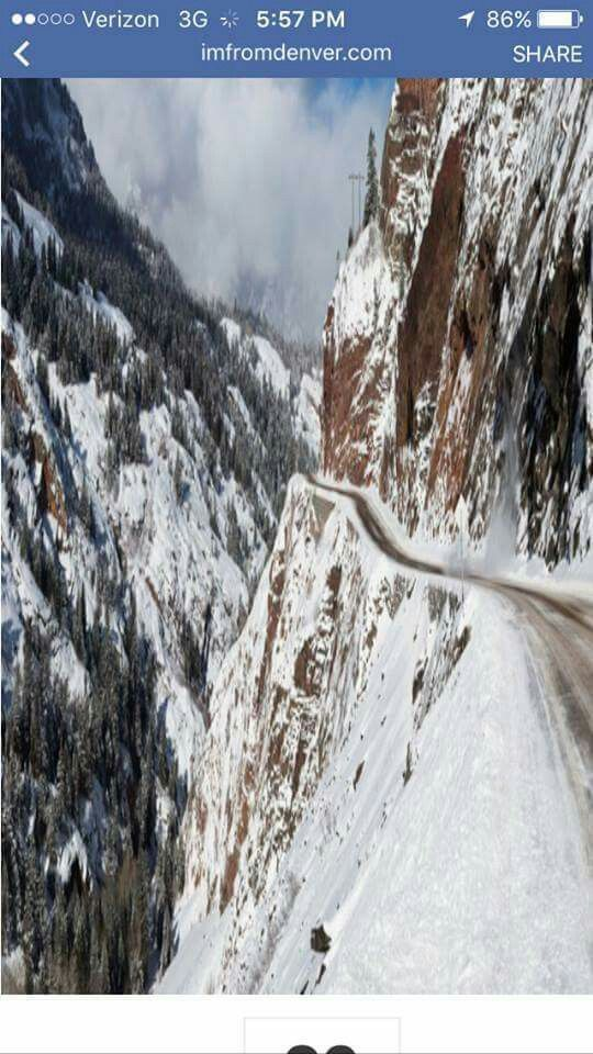 Red Mountain Pass in Colorado! No guard rails!!
