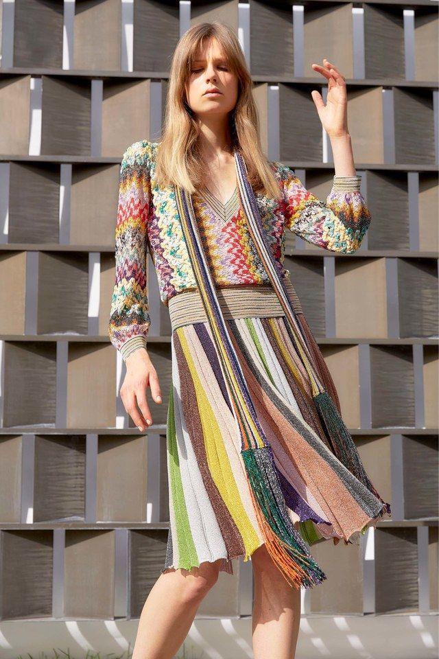 круизная коллекция 2017, вязаная коллекция, миссони одежда (фото 27)