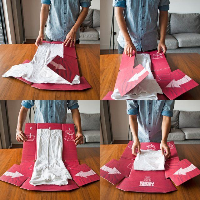 Fool-proof cardboard T-Shirt folding aid. The T-Shirt Folder is kind of the closest thing we have to a time machine. By freeing up the cumulative days you've spent folding clothes it gives you more time – it makes time, for you to do all the things you've always wanted to do, and it conveniently folds up to be stored in your wardrobe when not in use. AND it will make your mom think you're the kind of well-adjusted grown up she always hoped you would turn out to be. T-Shirt Folder with ...
