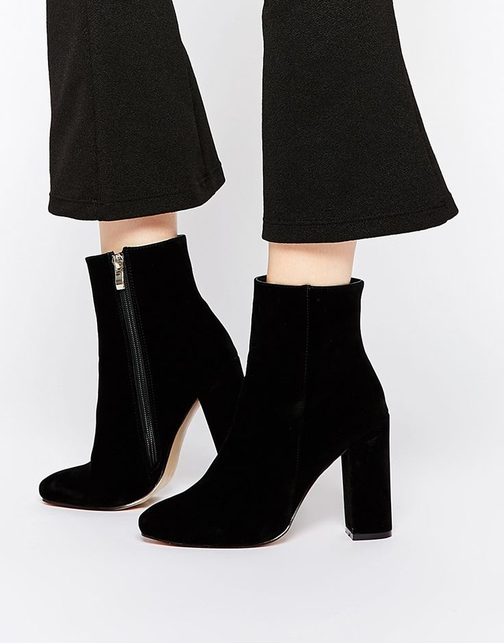 Image 1 of Public Desire Sofie Black Heeled Ankle Boots