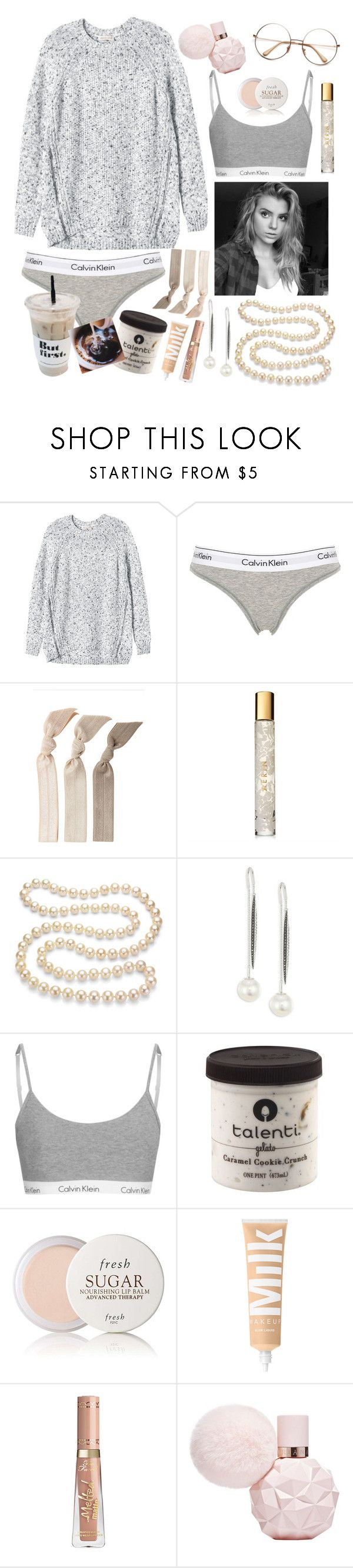 """""""⚪️~Pearls~⚪️"""" by maris3456 ❤ liked on Polyvore featuring Rebecca Taylor, Calvin Klein Underwear, Emi-Jay, AERIN, DaVonna, Yoko London and Fresh"""