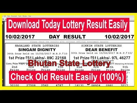 How To Download Bhutan State Lottery Today Result & Old Result - Bhutan State Lotteries - (More info on: https://1-W-W.COM/lottery/how-to-download-bhutan-state-lottery-today-result-old-result-bhutan-state-lotteries-2/)