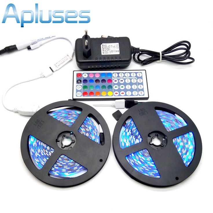 10 M LED Strip Set SMD 5050 RGB 600LED Flexibele Tape Woondecoratie  Verlichting 44Key IR Controller