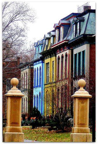 Lafayette Square, St. Louis, Missouri. Painted Ladies