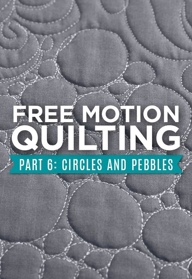 Next in our Free Motion Quilting series is Circles and Pebbles!!! This fun…