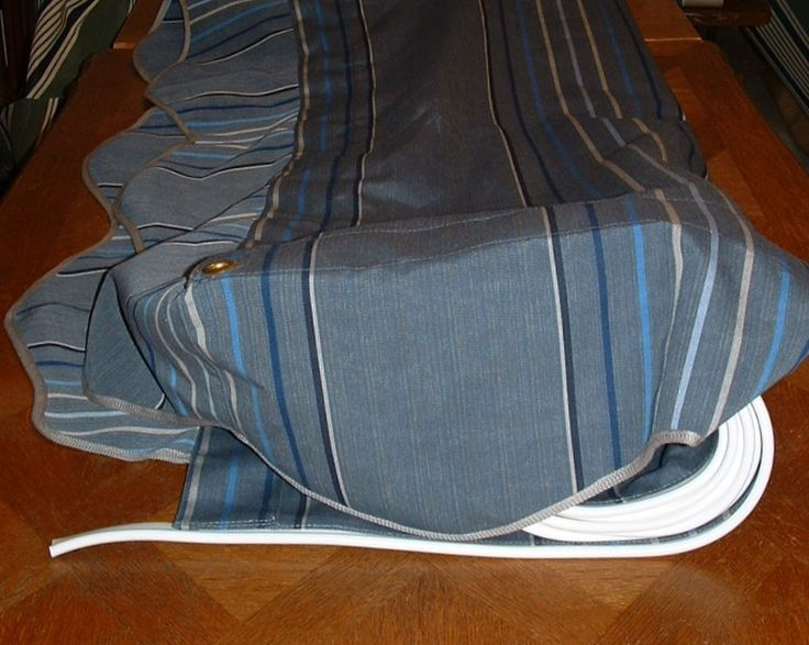 10' x 8' Sunbrella Motive Denim Awning for Sale $275.00 plus $25.00 S/I  add about $10.00 to cover PayPal fees. USA and PayPal ONLY.