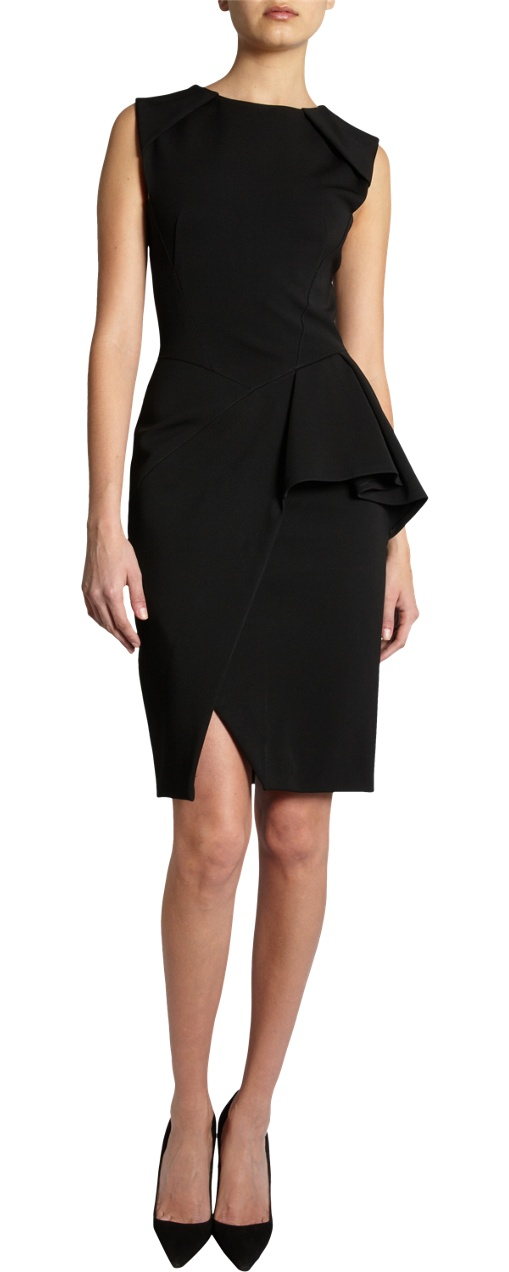 J. Mendel Asymmetric Peplum Dress