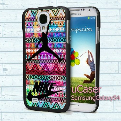 "Colorful Aztec NikeJordan for Samsung Galaxy S4 5.0"" screen Black Case"