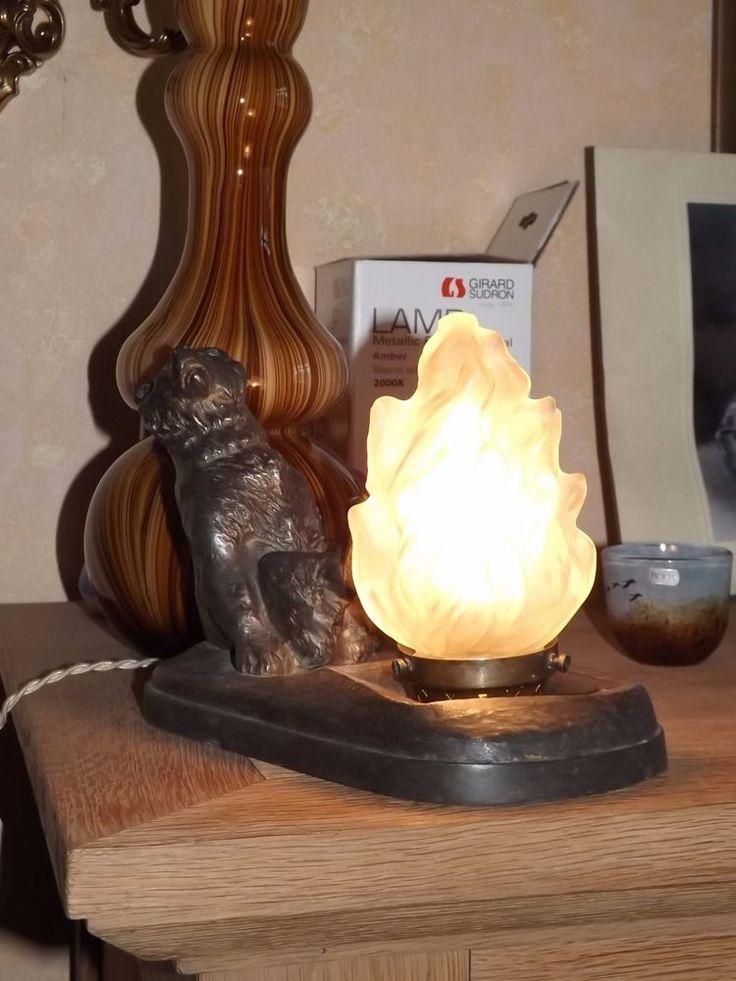 rare lampe veilleuse ours régule Thomas Francois Cartier 1930 art deco