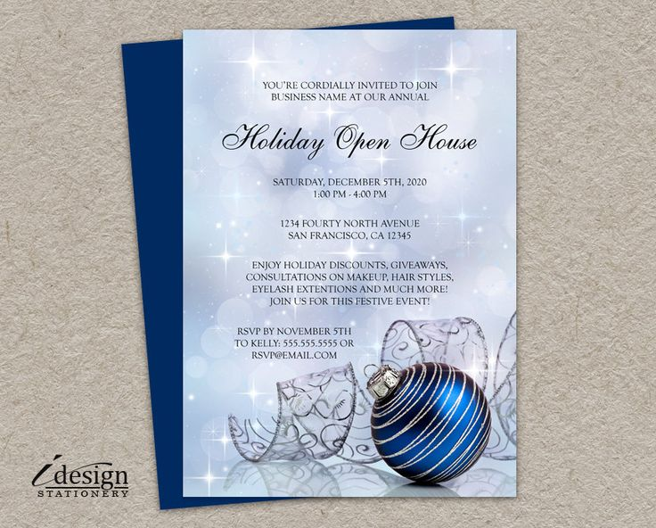 44 best Holiday Open House Invitations images on Pinterest - open house templates