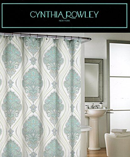 Cynthia Rowley Ornate Medallion Fabric Shower Curtain 72 By 72 Inch Damask  Floral