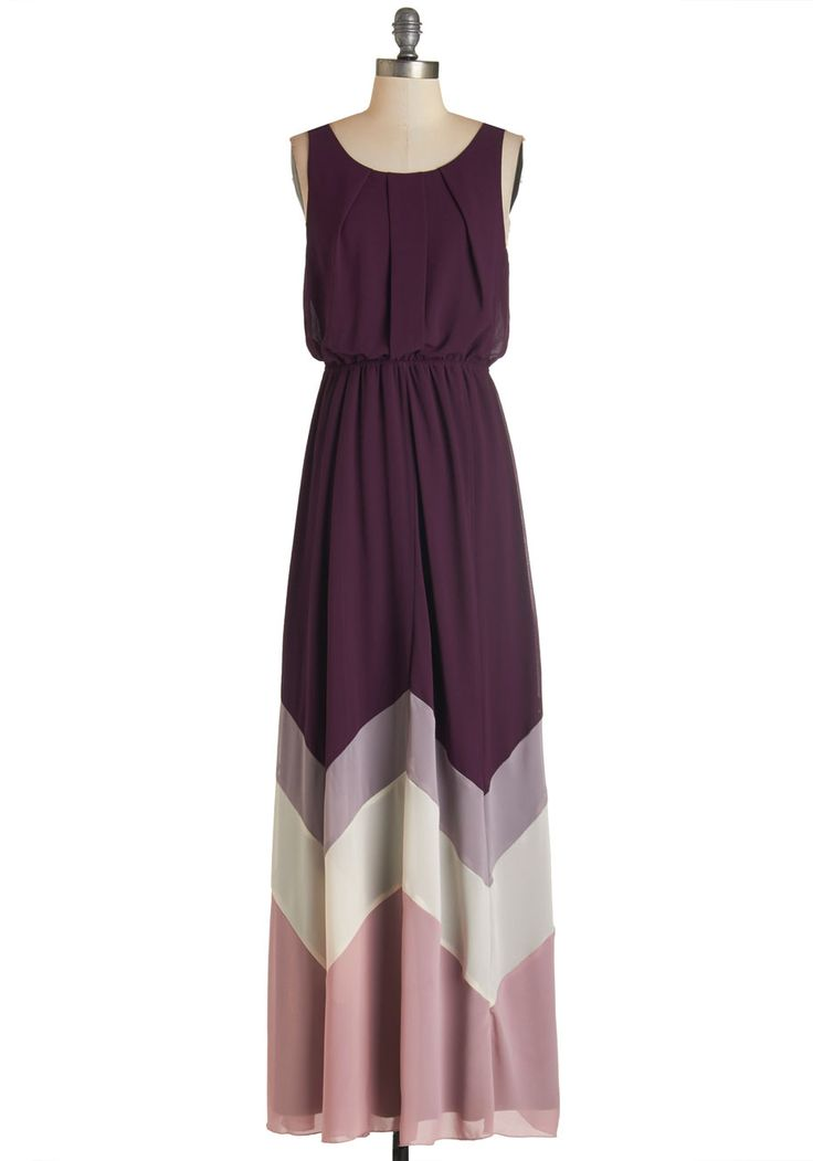 Romantic Resplendence Dress in Purple. Youre sure to feel as radiant as the breeze off the ocean in this airy, purple maxi dress, which is available for purchase in October! #purple #modcloth