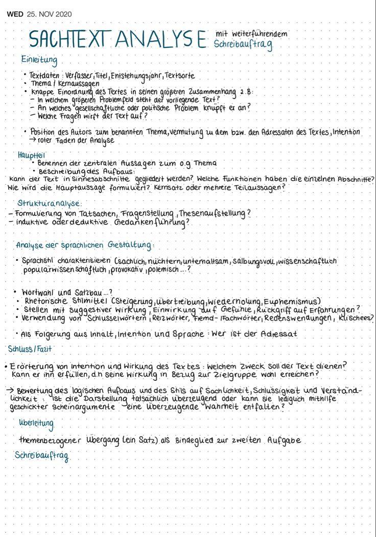 Sachtextanalyse Deutsch Lernzettel In 2021 Deutsch Nachhilfe Lernen Tipps Schule Rechtschreibung Lernen