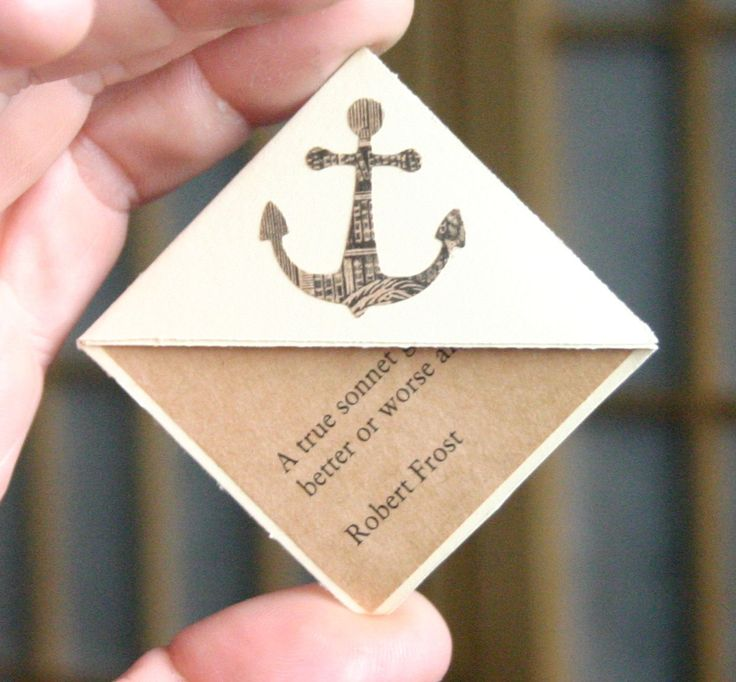 Anchor Page Corner Bookmarks, Set of 3, Nautical Paper Bookmarks, Gifts for Writers, Gift for Reader. $12.00, via Etsy.