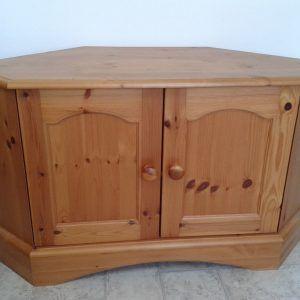 Antique Pine Corner Tv Cabinet