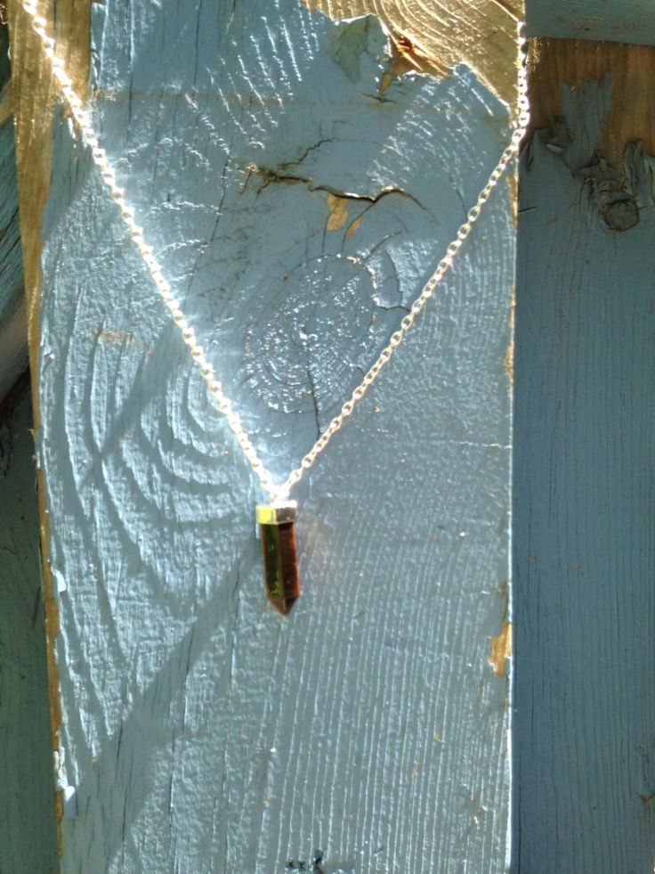 Tiger's Eye Pendulum Necklace by TheWanderingFairie on Etsy