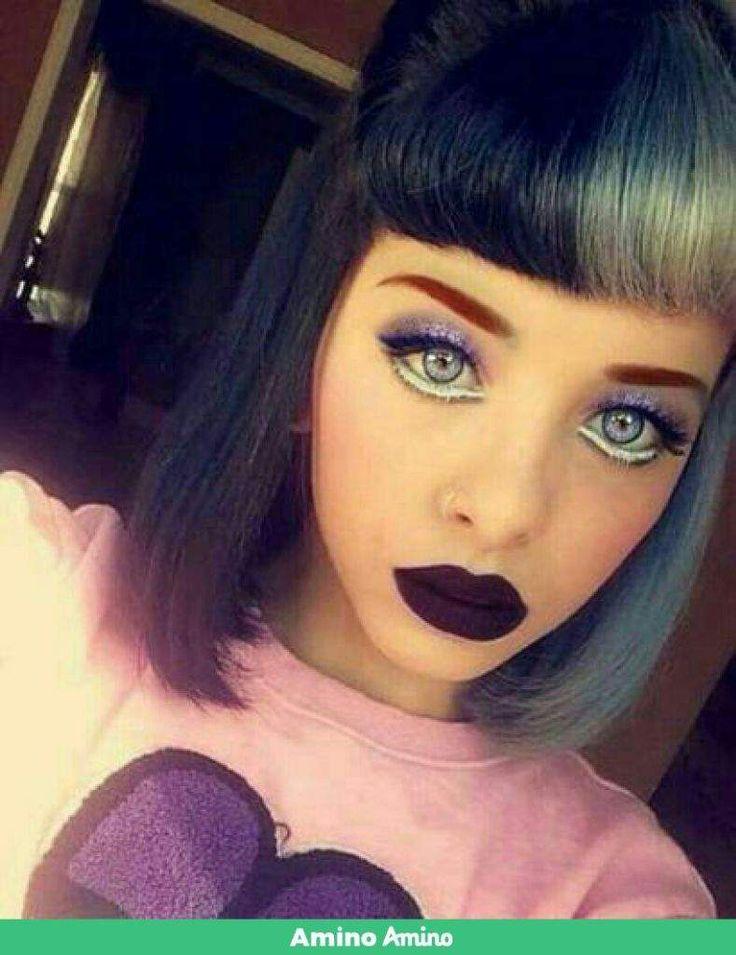 Melanie Martinez with grey contacts