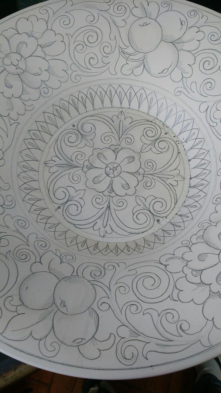 Dibujo porcelana