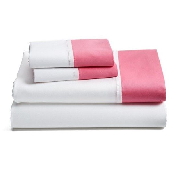 Kate Spade New York 'Grace' Sheet Set featuring polyvore, home, bed & bath, bedding, bed sheets, pink, cotton bedding, kate spade sheet set, kate spade bed linens, kate spade and pink sheet set
