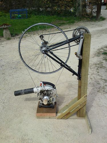 Bike wheel powered forge blower and hand crank blower .... exactly