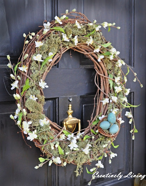 Pottery Barn knock-off Spring Wreath