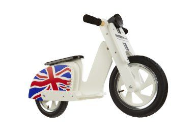 Kiddimoto Kids Scooter Wooden Balance Bike - Union Jack, 10-18 Inch: Amazon.co.uk: Sports & Outdoors
