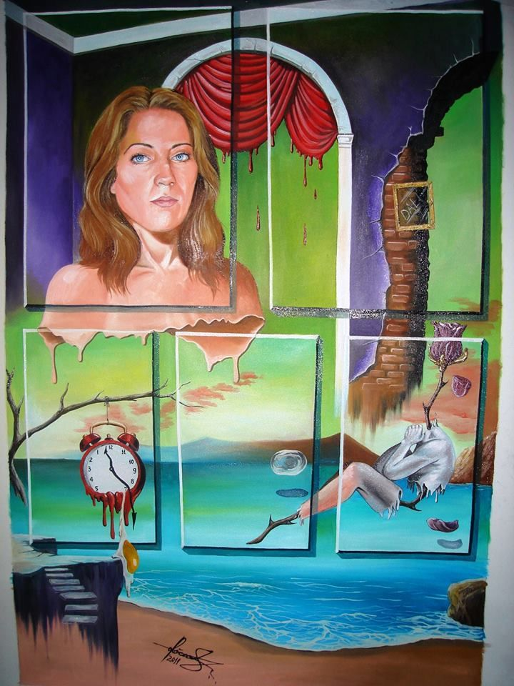 """My Muse"" - Oil on canvas.  #art #painter #painting #surrealism"