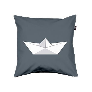 PaperBoat #06 - Pillow cover - Envelop #pillow #pillowcover #kissen #kissenbezug #kidsroom #kinderzimmer #paperboat #papierschiff #grau #grey