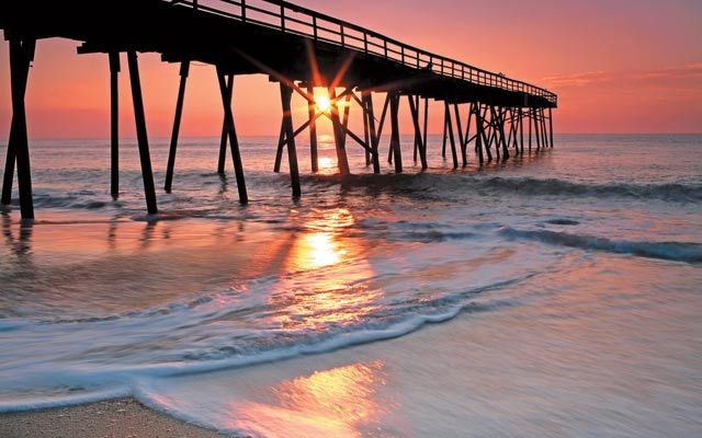 A pier at Wrightsville Beach near Wilmington, North Carolina