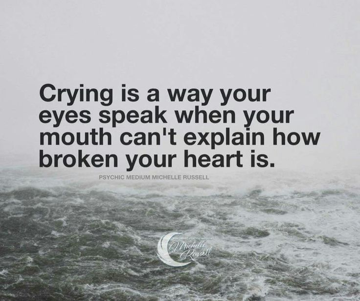 Sometimes the pain is so intense there wiĺl be no tears