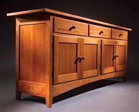 American Woodworker's Shaker Sideboard... Not quite modern enough for my tastes...