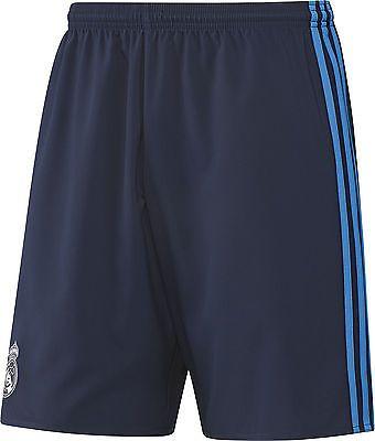 Adidas real #madrid third #2015/16 mens #shorts - grey, white, blue