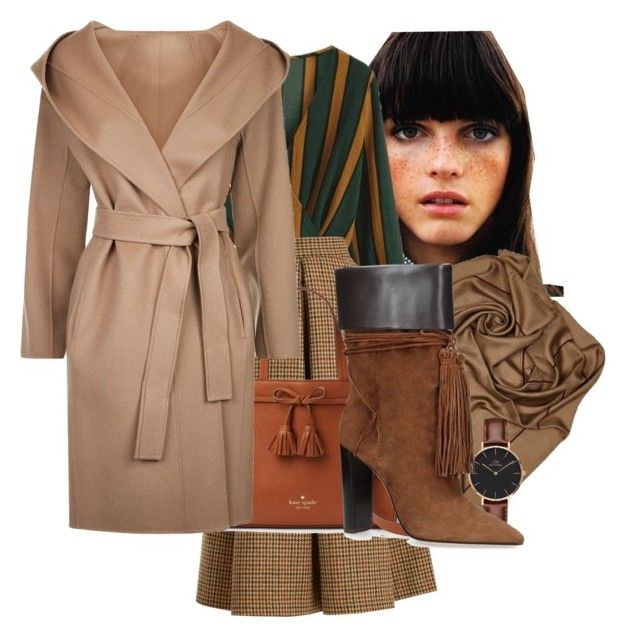 Elegance by valeriac on Polyvore featuring polyvore fashion style MaxMara LUISA BECCARIA Yves Saint Laurent Daniel Wellington Chanel clothing