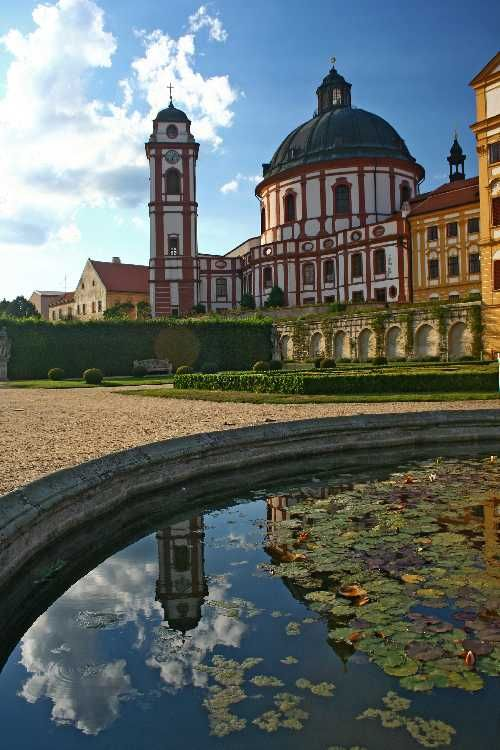 Castle Jaromerice nad Rokytnou in the south of czech republic