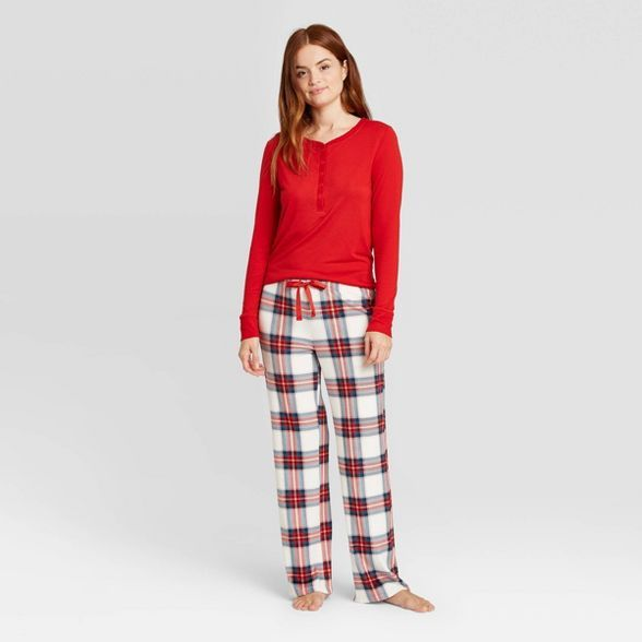 Stars Above Womens Henley Pajama Top