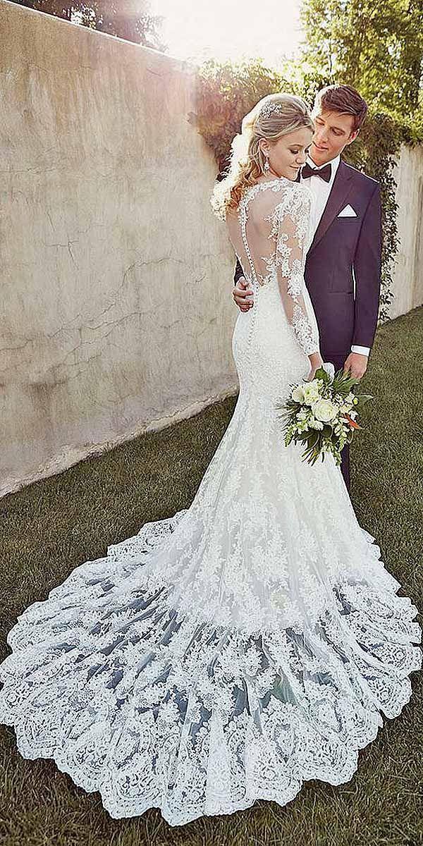 18 Mermaid Wedding Dresses From Top World Designers ❤ See more: http://www.weddingforward.com/mermaid-wedding-dresses/ #weddings #mermaiddress: