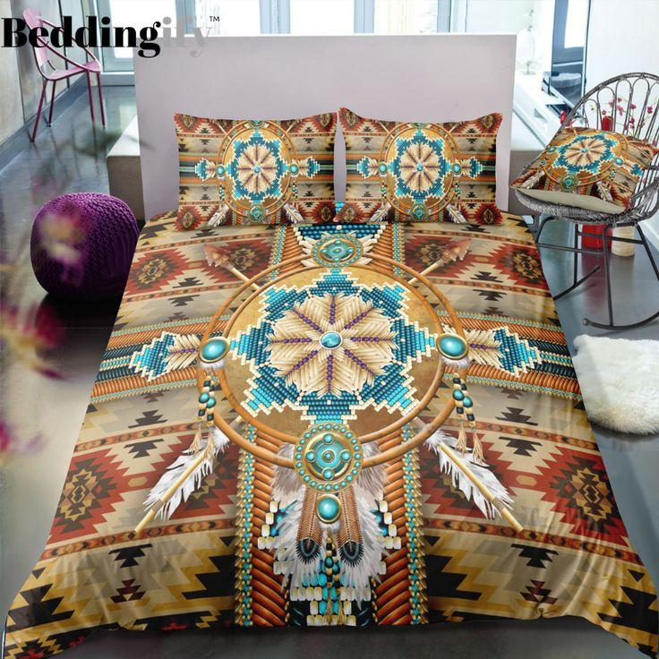 Indian inspired Cherokee Pattern Bedding Set in 2020