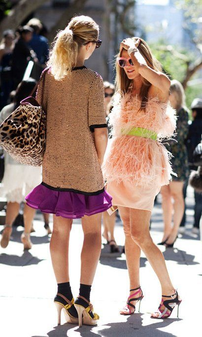 fashionable chats. NJ & AdR in NYC. #NatalieJoos #AnnaDelloRusso