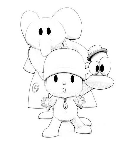 Coloring page for the kids
