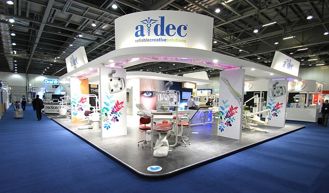 The A-dec stand at the BDTA Dental Showcase