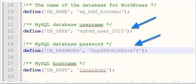 Comment modifier le nom de la base de données WordPress - Vous venez d'être victime d'un piratage de votre site WordPress ? Vous avez besoin de tout changer sur votre blog WordPress. Cette modification portera sur toutes les clés d'accès, mais également sur le nom de la base de données de votre installation WordPress. Dans ce tuto... - https://blogpascher.com/tutoriel-wordpress/comment-modifier-le-nom-de-la-base-de-donnees-wordpress