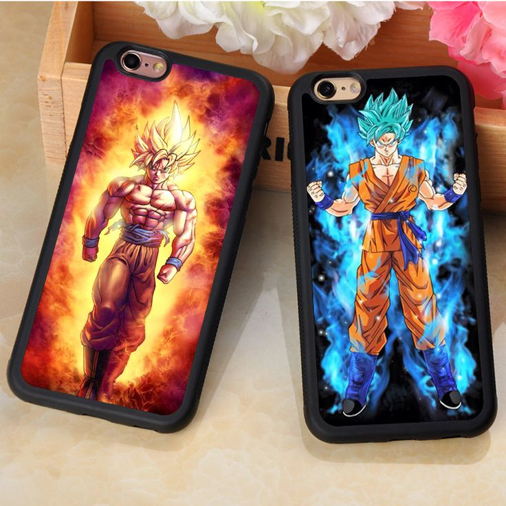 Dragon Ball Z Super Sayan Goku and Vegeta Printed Soft Rubber Phone Cases For iPhone 6 6S Plus 7 7Plus 5 5S 5C SE 4S Cover Shell #Affiliate