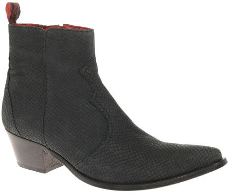 Jeffery West Motley Crue Cuban Heel Boots in Black for Men