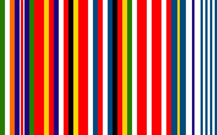 This is a European Flag proposal from 2002 created by Rem Koolhaas. I like the idea of a flag that combines all flags of the EU members. In that way it represents the unity of the EU while maintaining the individual identity of the countries. Plus, new members can easily be added to the flag. However, the flag was never officially adopted by the EU. Maybe, because of the economic connotation of the barcode symbol.